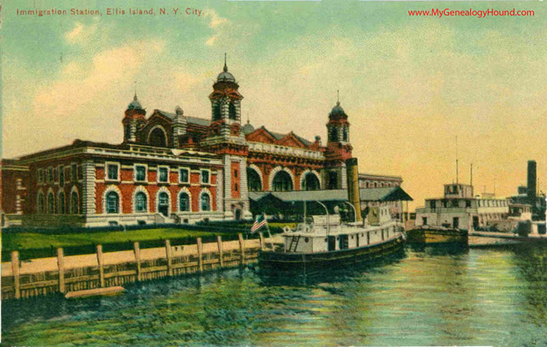Immigration Station, Ellis Island, New York Harbor, transfer steamers