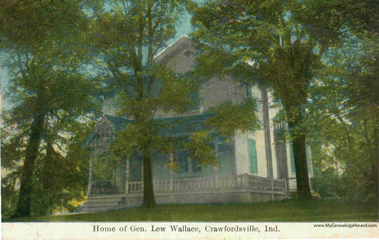 The home of General Lew Wallace, Crawfordsville, Indiana.